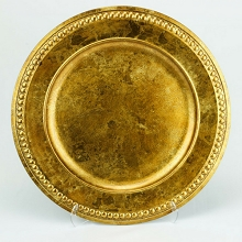 Charger Plate Roman Studded DARK GOLD